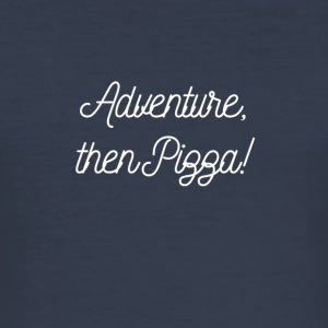 Adventure Pizza - Männer Slim Fit T-Shirt