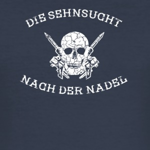 THE SEHNSUCHT AFTER THE NEEDLE tattoo tattooed - Men's Slim Fit T-Shirt