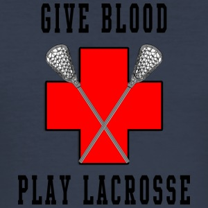 Lacrosse Give Blood Play Lacrosse - slim fit T-shirt
