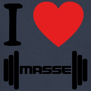 I LOVE Masse BLACK - Männer Slim Fit T-Shirt