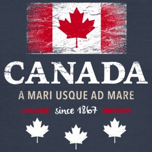Canada Canada America maple leaf flag banner - Men's Slim Fit T-Shirt
