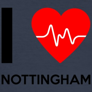 I Love Nottingham - Jeg elsker Nottingham - Slim Fit T-skjorte for menn