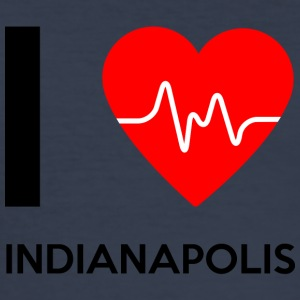 I Love Indianapolis - Ich liebe Indianapolis - Männer Slim Fit T-Shirt