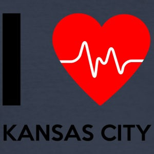 I Love Kansas City - Ich liebe Kansas City - Männer Slim Fit T-Shirt
