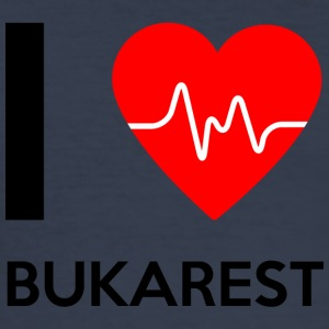 I Love Bucharest - Jeg elsker Bucuresti - Slim Fit T-skjorte for menn