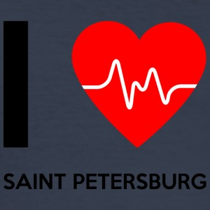 I Love Sankt Petersborg - Jeg elsker St. Petersburg - Herre Slim Fit T-Shirt