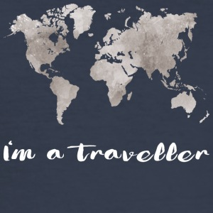 I'm a traveller - Männer Slim Fit T-Shirt