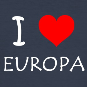 I love Europa - Männer Slim Fit T-Shirt
