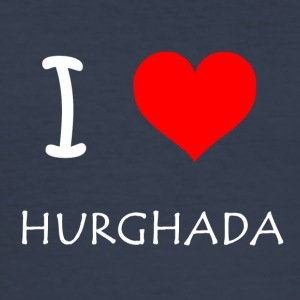 I Love Hurghada - Herre Slim Fit T-Shirt