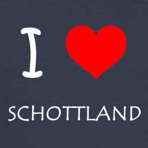 I Love SCHOTTLAND - Männer Slim Fit T-Shirt