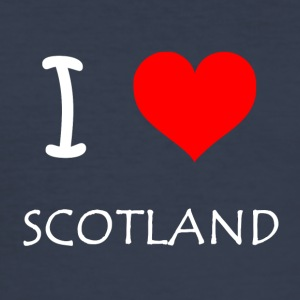 I Love SCOTLAND - Männer Slim Fit T-Shirt