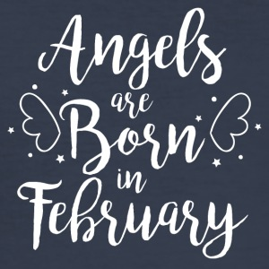 Angels are born in February - Men's Slim Fit T-Shirt