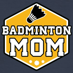 badminton mamma - Slim Fit T-skjorte for menn