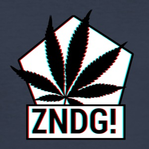 Tenning! ZNDG! cannabis blad - Slim Fit T-skjorte for menn