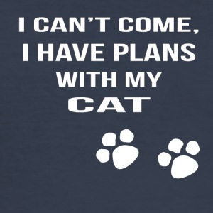 i cant i have plans with my cat - Männer Slim Fit T-Shirt
