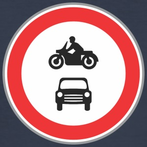 Road sign motorcycle and car - Men's Slim Fit T-Shirt