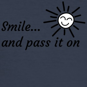 Smile ... and pass it on - Men's Slim Fit T-Shirt