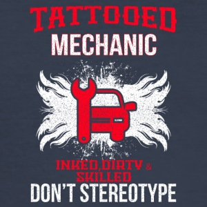 TATTOOED MECHANIC - Men's Slim Fit T-Shirt