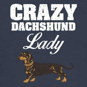 dachshund hund - Slim Fit T-skjorte for menn