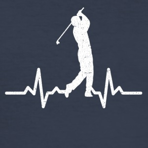 My heart beats for Golf - Men's Slim Fit T-Shirt
