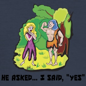 Engaged He Asked I Said Yes - Men's Slim Fit T-Shirt