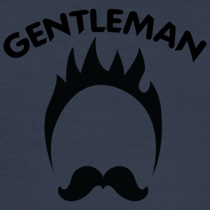 GENTLEMAN svart - Slim Fit T-shirt herr