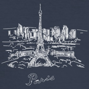 Paris City - Frankrike - Slim Fit T-shirt herr