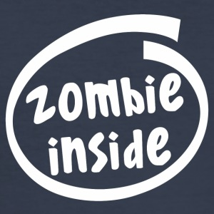 zombie inside (1840B) - Männer Slim Fit T-Shirt