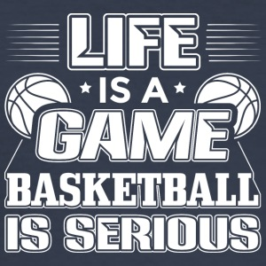 basketball LIFE IS A GAME - Männer Slim Fit T-Shirt
