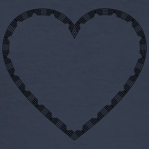 Abstract Heart Isle - Men's Slim Fit T-Shirt
