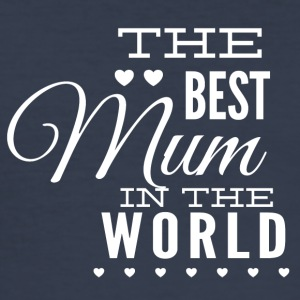 the best mom in the world white - Men's Slim Fit T-Shirt