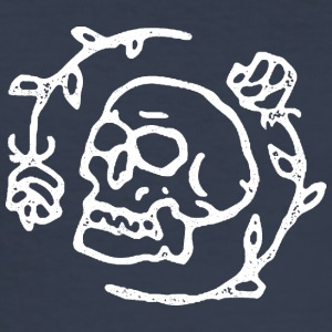 Skull and Roses - Slim Fit T-skjorte for menn