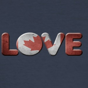 I LOVE CANADA KANADA - Männer Slim Fit T-Shirt