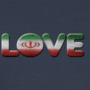 I LOVE IRAN - Männer Slim Fit T-Shirt