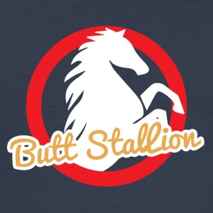 Horse / Farmhouse: Butt Stallion - Men's Slim Fit T-Shirt