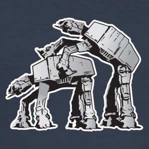 AT-AT Robot sex STAR, WARS - Männer Slim Fit T-Shirt