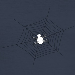 White Spider in cobweb - Men's Slim Fit T-Shirt