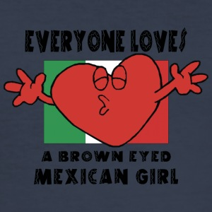 Love Mexican Girl - Men's Slim Fit T-Shirt