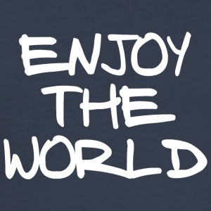 ENJOY THE WORLD - Men's Slim Fit T-Shirt
