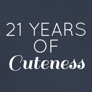 21 Birthday: 21 Years of Cuteness - Men's Slim Fit T-Shirt