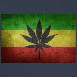 Jamaica Flag and Marijuana - Men's Slim Fit T-Shirt