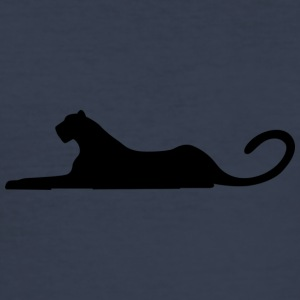 leopard black - Männer Slim Fit T-Shirt