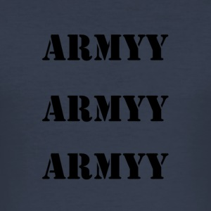 army print ord - Herre Slim Fit T-Shirt