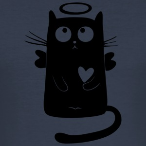 Black Cat Isle - Men's Slim Fit T-Shirt