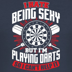 DARTS - HATE BEING SEXY - Men's Slim Fit T-Shirt