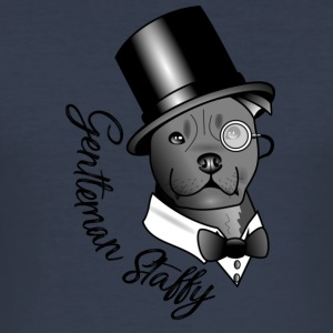 Herr Staffy - Männer Slim Fit T-Shirt
