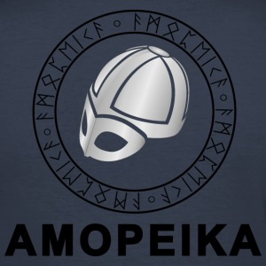 Amopeika Dark - Men's Slim Fit T-Shirt