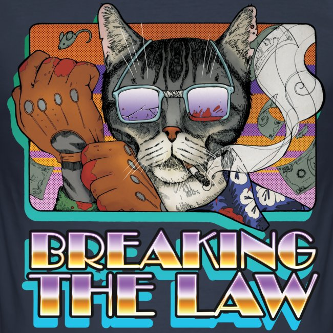 Crime Cat in Shades - Braking the Law