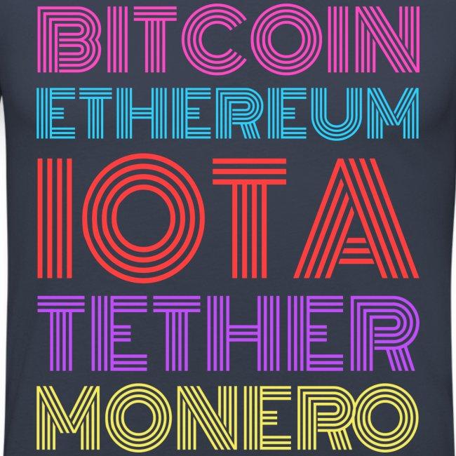 Retro Crypto   Bitcoin, Ethereum, IOTA, Tether