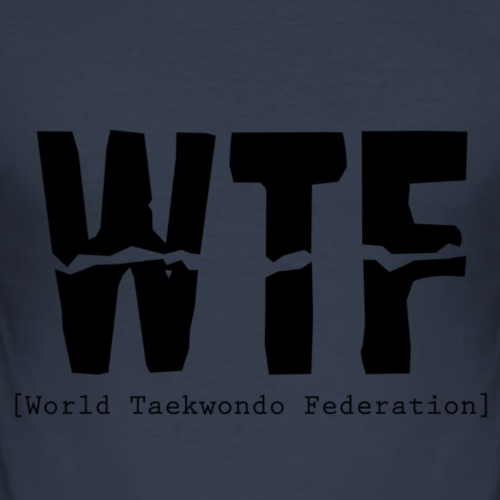WTF - World Taekwondo Federation - Herre Slim Fit T-Shirt